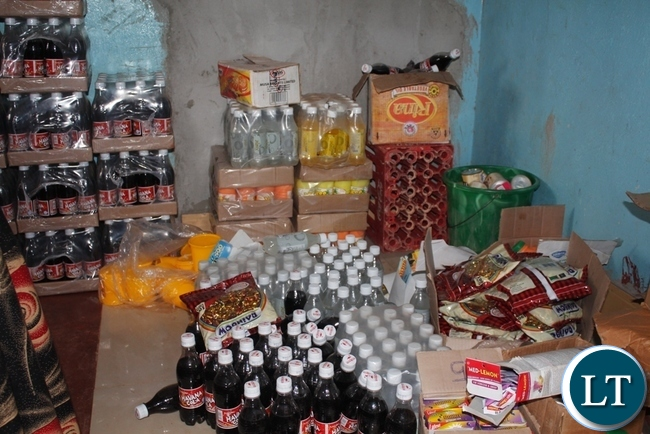 Some assorted items confiscated during inspection of expired goods in mbala district.
