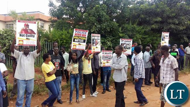 GBM supporters at the Magistrate Court