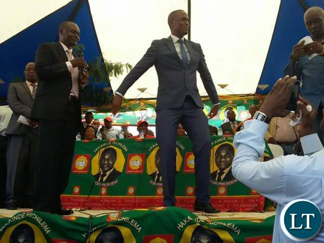 Keith Mukata dancing on stage after defecting