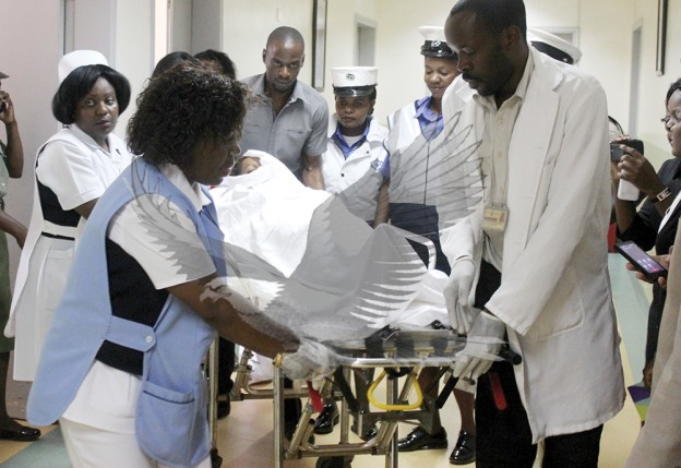 MARJORY Moyo being evacuated to South Africa for constrictive Surgery