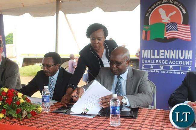 Millennium Challenge Account - Zambia Contract signing  ceremony in Lusaka