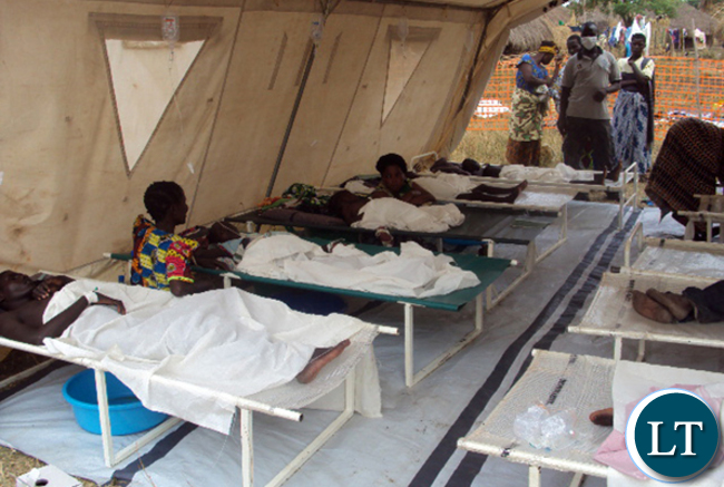 Cholera Patients in a tent