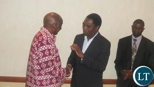 HH taking to Vernon Mwaanga