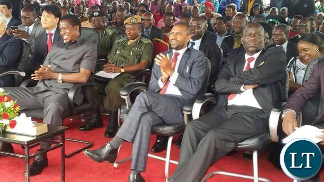 President Lungu at the ground breaking ceremony of the construction of a Youth and sports development centre by the International Youth Fellowship (IYF) organization in Chilanga district