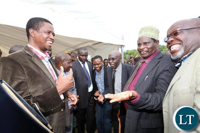 President Lungu with Chiefs