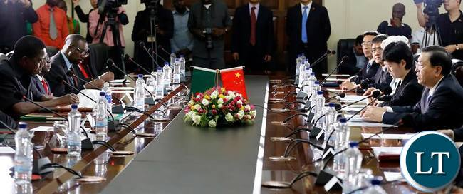 President Lungu meeting with the Chinese PArliamentary Dellegation who came to attend the IPU Summitt