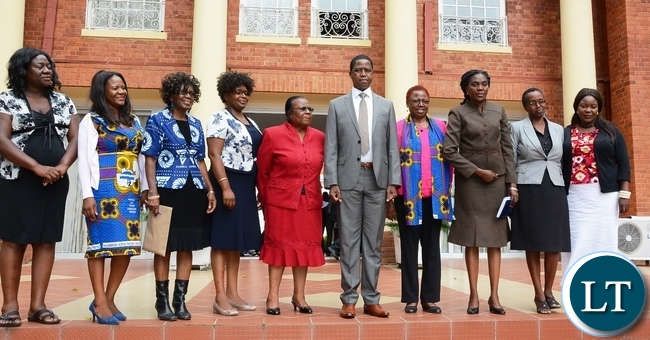President Edgar Lungu pose photo with NGOCC at State House