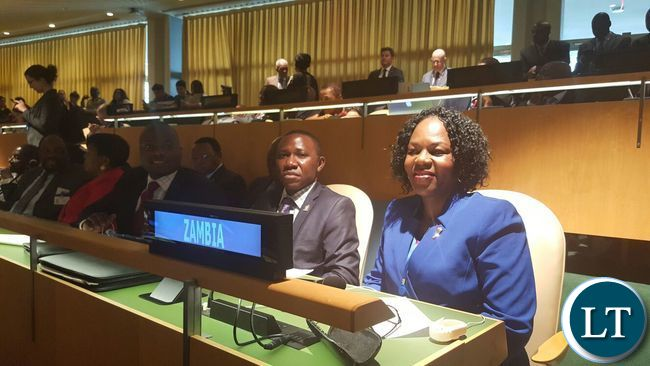 Christine Kalamwina and Kaswamu Katota on Zambia seat at Paris agreement signing ceremony