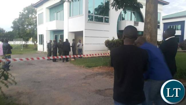Police surround Martha Mushipe's law firm situated in Millenium Village Complex