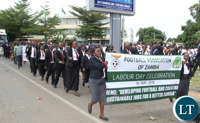 Football Association of Zambia (FAZ) participating in this year Labour Day celebrations