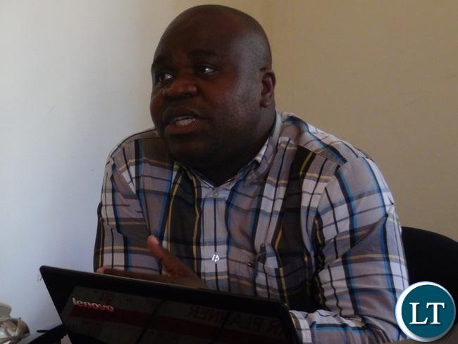 SACCORD executive director Boniface Cheembe