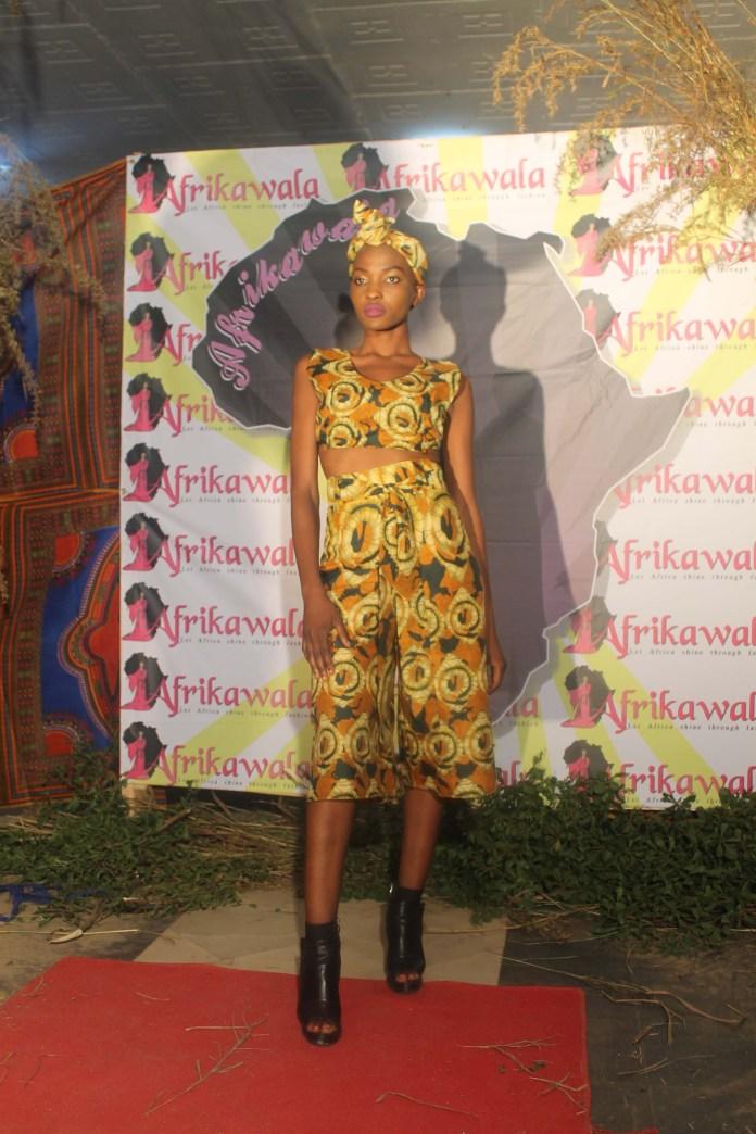 Model Cecilia Kongwa during the fashion show