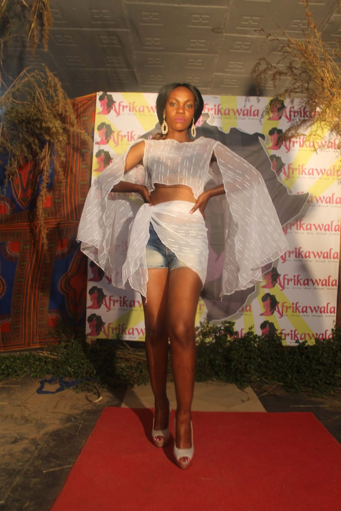 Model Navile Chalomba during the fashion show