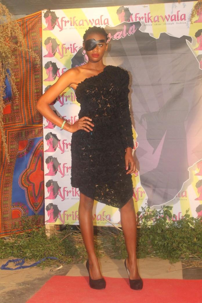 Model Promise Nambela at the Afrikawala Fashion Show in Nakonde