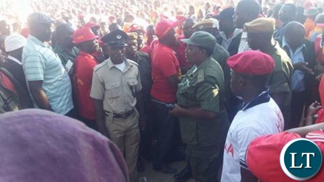 Police storm the UPND rally before teargasing the crowd