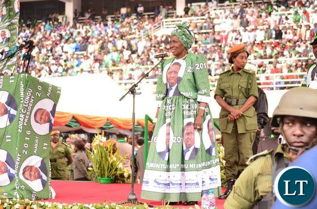 President Lungu has announced that Vice President Inonge  Wina will be his running in the August 11th General Elections