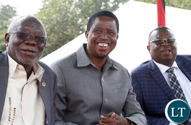 President Lungu with labour Leaders