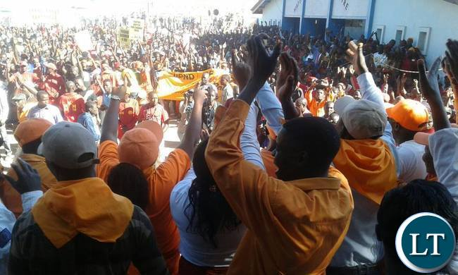 UPND and Miles Sampa supporters during the Matero rally_1