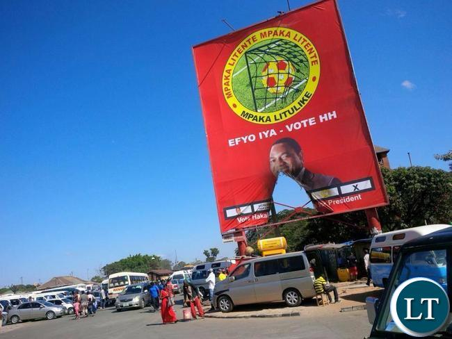 UPND posters destroyed in Lusaka