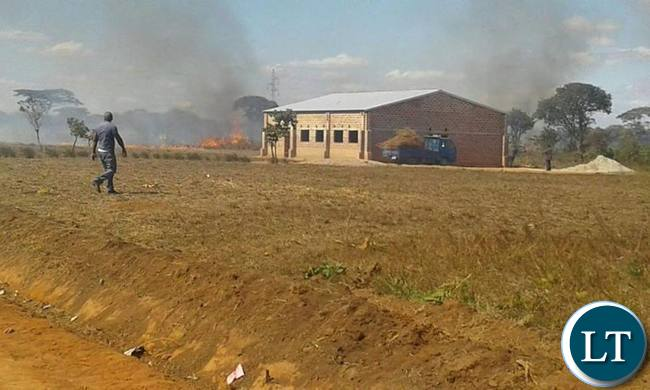The venue of the UPND rally torched by PF cadres