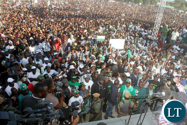 President Edgar Lungu address Rally at Mutendele Primary School in Kafue on 25-06-2016- Picture By Eddie Mwanaleza/Statehouse.