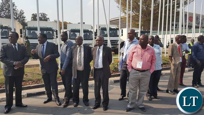 ECZ officials led by Chairperson Justice Chulu at KKIA   awaiting the arrival of the cargo plane