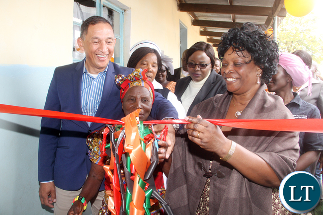 First Lady Esther Lungu and Chieftainess Shikabeta