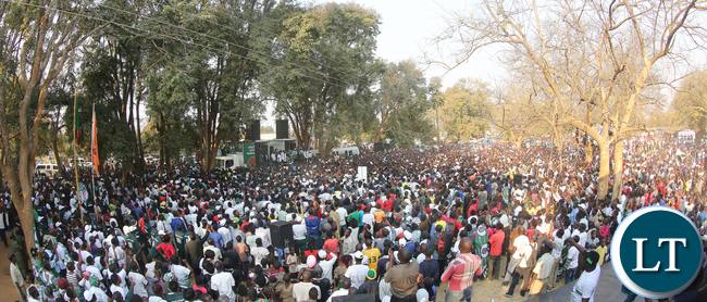 President Edgar Lungu in Mumbwa at Independence Square  Rally on Sunday- Picture Eddie Mwanaleza 31-07-2016