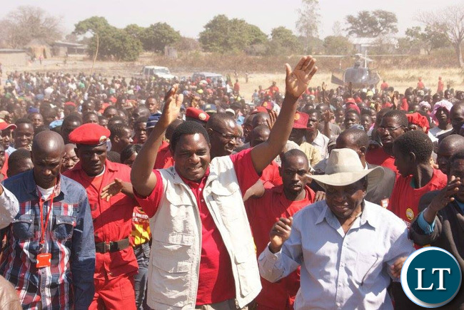 HH and ADD President Charles Milupi who called on Western Province to vote UPND