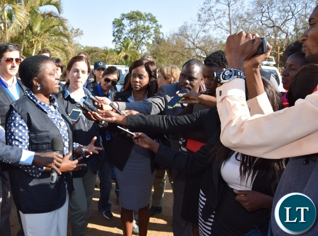 Chief Observer Cecile Kyenge briefs the media about the deployment of the short-term observers