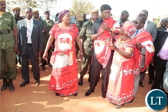 President Edgar Lungu arrival at Mukaika for kulamba Traditional Ceremony 2016