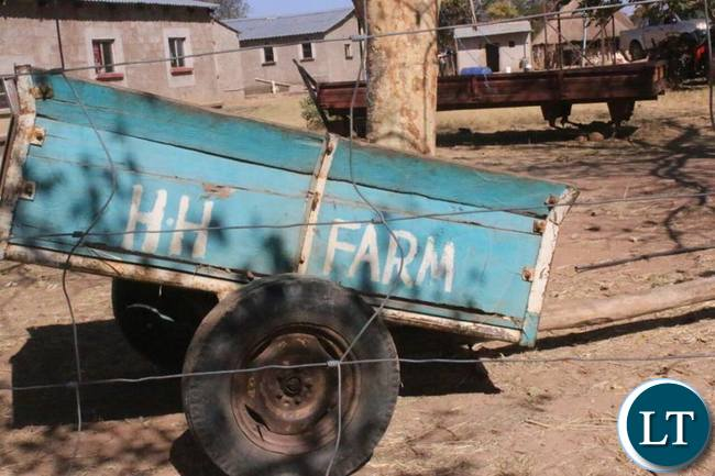 A mode of transport at the village