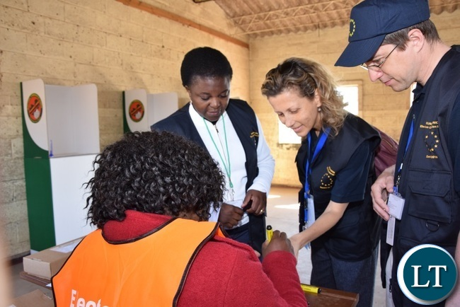 EU EOM in Zambia undertaking elections observation this  morning