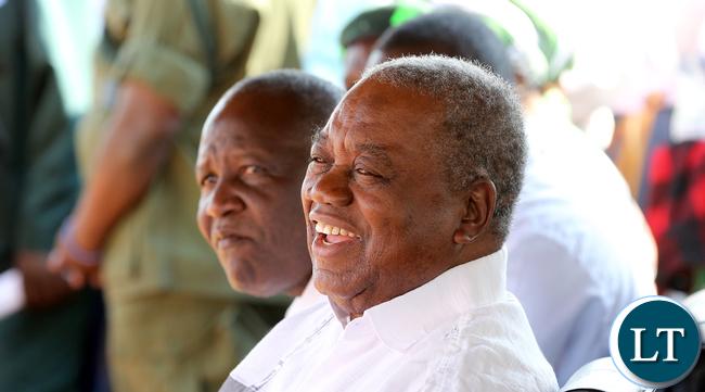 MMD President Felix Mutati with Former President Rupiah Banda  Pf Rally in Lundazi7904