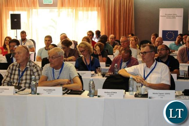 EU EOM Zambia short-term observers attend their training in Lusaka