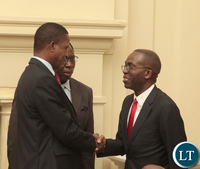 President Edgar Lungu welcomes Matata Ponyo special envoy from DRC at State House