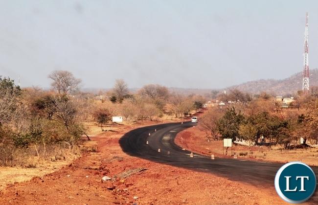 Part of the tared Chirundu-Lusaka road under construction by China Henan in Chirundu District