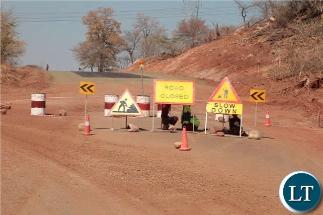 Constructions works by China Henan going on well on Lusaka-Chirundu Road in Chirundu District
