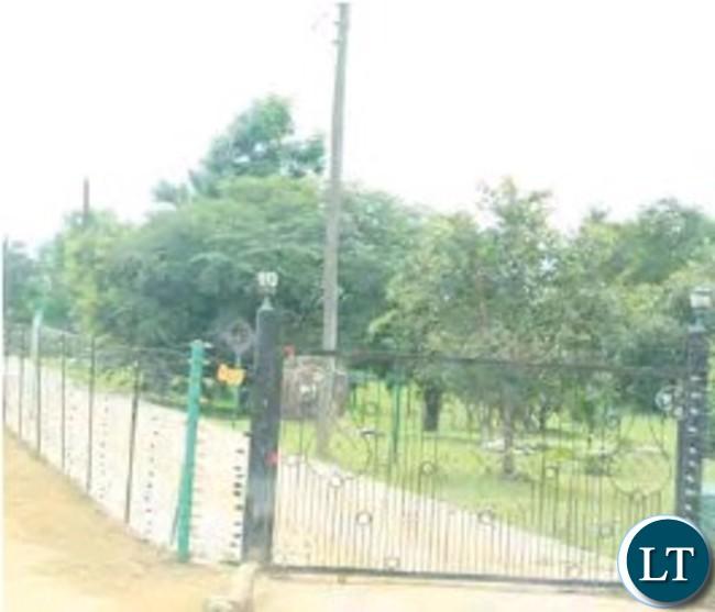Entrace to Ndambo's farm estate