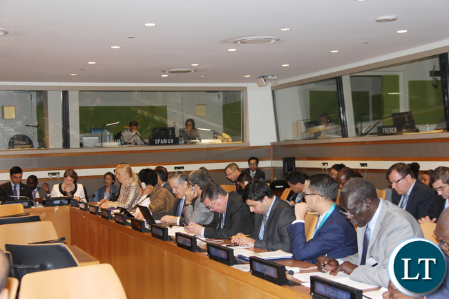 Landlocked Development Countries (LLDCs) : Foreign Affairs and other representatives of LLDCs attending the 15th Annual Ministerial Meeting of LLDCs Foreign Affairs Ministers at UN HQ New York USA 22 September, 2016. PHOTO | CHIBAULA D. SILWAMBA | ZAMBIA UN MISSION