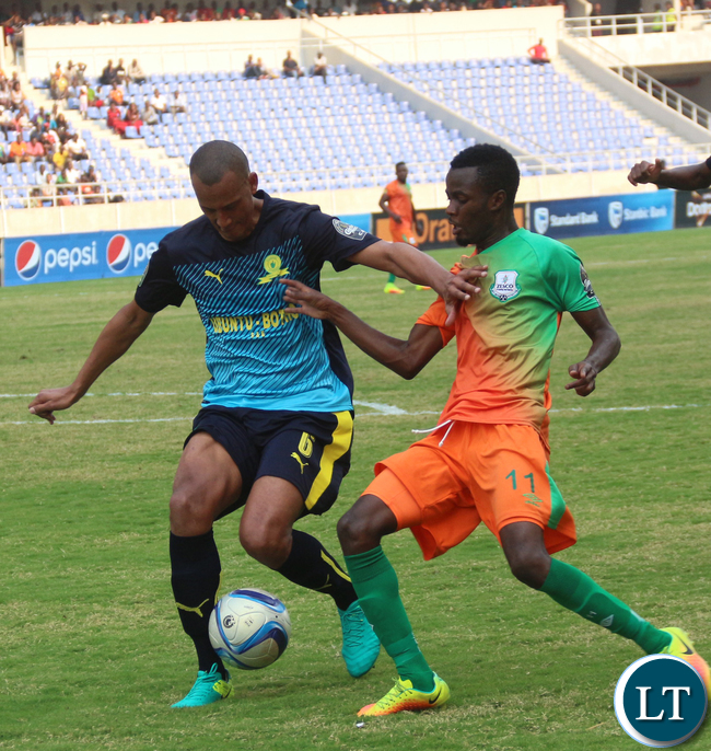 Zesco United and Sundown player in Action