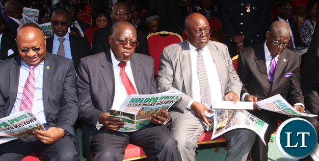 Former Chiefs of justice and their Deputies at the Inauguration ceremony