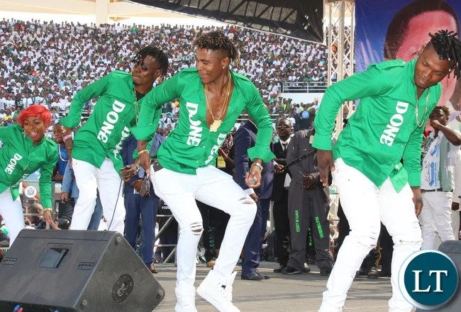Artists performing at the Inauguration Ceremony