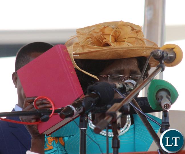 Vice President Inonge Wina takes Oath of office