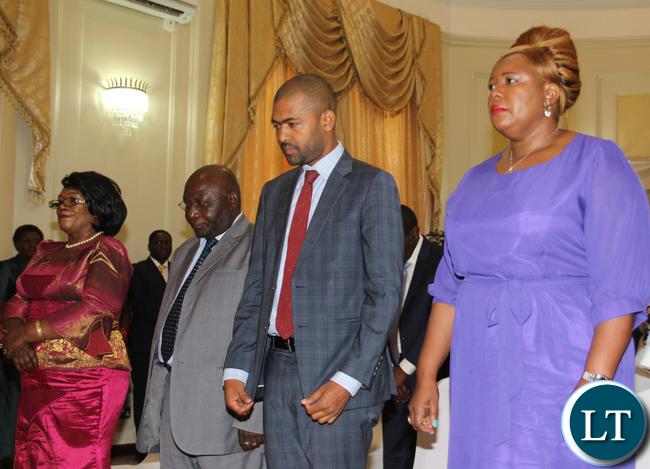 Prof Nkandu Luo, Dr. Dennis Musuku Wachinga, Hon Vincent Mwale and Hon Dora Siliya