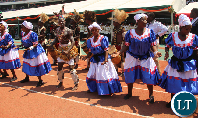 Traditional Dancers at the stadium
