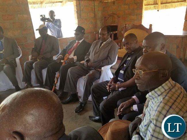Some of the Lamba Chiefs during a closed door meeting