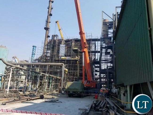 A new smelter unit under construction