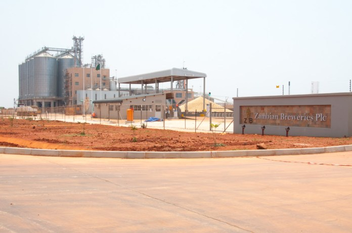 Committed to investment Zambian Breweries' US$32 million maltings plant nearing completion in the Lusaka-South Multi-Facility Economic Zone (MFEZ)