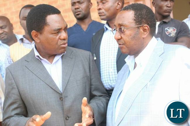 HH and GBM after leaving the Magistrate Court in Lusaka